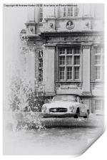A classic Mercedes car at Longleat House, Print