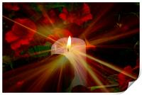 Candle in the night for world peace, Print