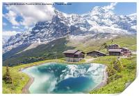 Eiger and Reflection in Alpine Lake, Print