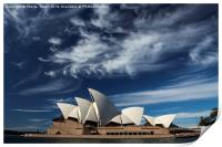Sydney Opera House with dramatic sky, Print