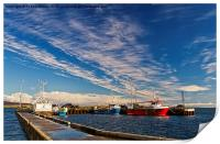 Harbour Clouds, Print