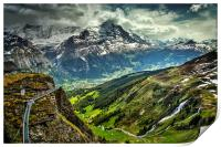 View Into Grindelwald Valley, Print