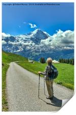 Contemplating the Eiger, Print