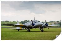 Avro Anson parked on the grass, Print