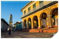 Sunset on the streets of Trinidad, Print