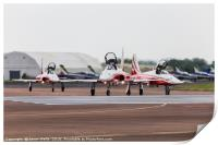 Close-up of Patrouille Suisse moving onto runway 2, Print