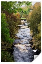 A View of the River Swale in North Yorkshire, Print