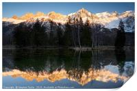 Mont Blanc reflections, Print