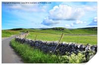 Beautiful landscape, Yorkshire Dales, England, Print