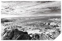 Rocky Cambo Beach in Scotland, Print