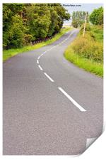 Lovely  road  on summer day in Scotland, Print