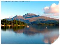 The peacful tranquility of Loch Lomond, Print