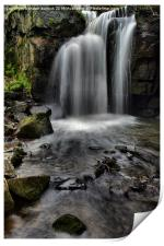 lumsdale water fall, Print