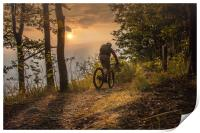 Mountain biking till the sunset, Print