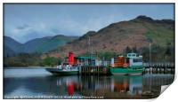 """""""Reflections at Ullswater Jetty"""", Print"""