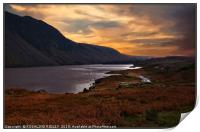 """Night approaches at Wastwater"", Print"