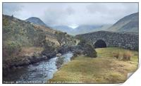 """""""Misty day in Wasdale valley"""", Print"""