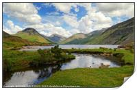 """""""Cloud reflections at Wastwater"""", Print"""
