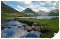 """""""Cloud reflections at Wastwater 2"""", Print"""