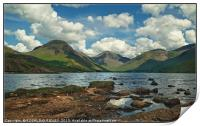 """""""Afternoon shadows at Wastwater"""", Print"""