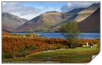 """""""Golden hour autumn at Wastwater"""", Print"""