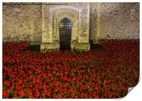 Poppies at the Tower Gate, Print
