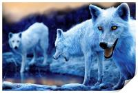 Arctic White Wolves, Print