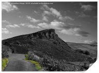 The road to the Roaches rocks, Print