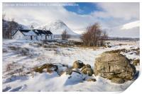 Winter in the Highlands, Print