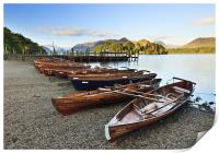 Boats Lined Up, Print