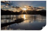 Last Light Over Derwentwater, Print