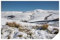 Snow covered hills in the High Peak, Print
