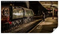 34092 'Wells' at Keighley Station, Print