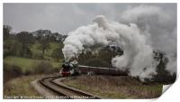 Flying Scotsman leaving Grosmont, Print