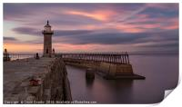 Whitby Harbour at dusk, Print