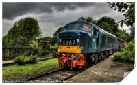 D182 at Summerseat on the East Lancs Railway, Print