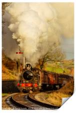 85 leaving Oakworth Station, Print