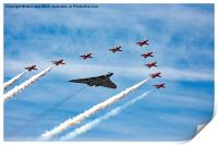 Vulcan and Red Arrows last ever flight , Print