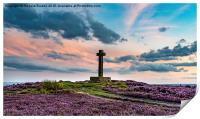 Sunset at Ana Cross, Rosedale, Print
