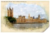 The Palace of Westminster, Print