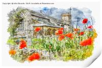 St Mary the Virgin, South Wootton, Print