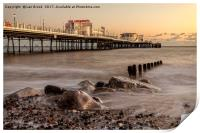 Worthing Pier Evening, Print