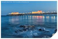 Worthing Pier Blue Hour, Print