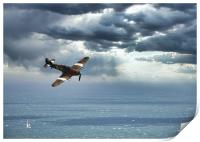 Hawker Hurricane over the English Channel, Print