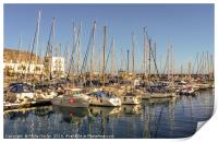 Port in the lovely fishing village..........., Print