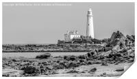 The Lighthouse in mono..............., Print