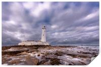 Standing Proudly St. Mary's Lighthouse, Print