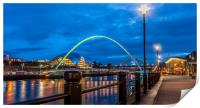 Newcastle Quayside at Night, Print
