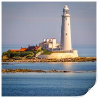 Stunning St Mary's Lighthouse, Print