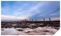 St. Mary's Lighthouse in Whitley Bay, Print